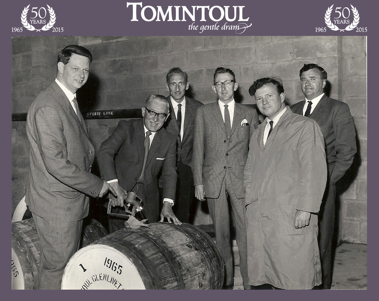 Tomintoul - first cask filling 1965 with 50logos